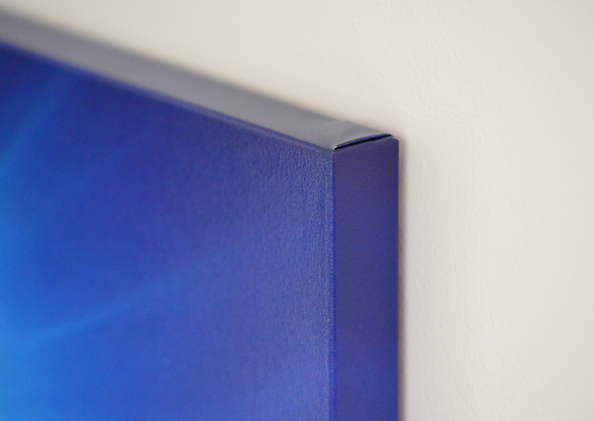Our canvas prints feature Chromata White Canvas stretched on to .5 inch oak stretcher bars.